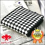 ショッピング財布 財布さいふサイフ 財布メンズ 市松模様チェック白ホワイト格子カード イントレチャート ショートウォレット