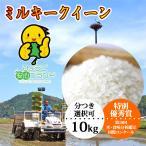令和元年産 ミルキークイーン 白米 玄米 コウノトリ育む農法 お米 10kg 送料無料