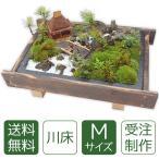 残暑お見舞い 盆栽 ミニ庭園 盆景【川床(M)】