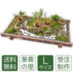 父の日 盆栽 ミニ庭園 盆景【茅葺の里(L)】