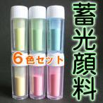 蓄光顔料 6色セット プリザーブドフラワー専用
