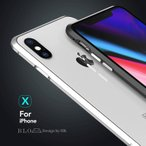 表面裏面ガラスフィルム付き BLO iphone X アルミバンパー iphoneX ケース アイホンX合金フレーム 薄型高品質金属アイフォンXバンパーメタルカバー