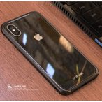贅沢透明ガラス iphoneX ケースアルミバンパー iphone X ケース メタルフレーム 9Hガラスバックプレート 超高品質アイフォンiphoneXカバー