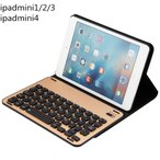新発売iPadmini4 レザーケース アルミ合金キーボード 高品質 超薄型 タブレットPC ipadmini 1/2/3 アイパッドミニー手帳型スタンド機能 Bluetooth