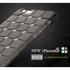 9H強化ガラス付き iPhone6S iPhone6S plus ケース ROCK 正規品ルービックキューブ超耐衝撃シリコン TPUiPhone6 iphone6 plusクリアカバーケース