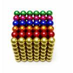 マグネットボール/立体パズル / カラフル、6色 5mm球 216個 1缶