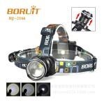 LEDヘッドライト/ 最新XM-LT6 ズ ーム機能付/単三電池、3本/1200L M 魚眼レンズ/BORUIT RJ-2166