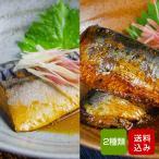 惣菜 サバの味噌煮といわしの醤油煮のお試しセット レトルト 簡単調理 レンチン メール便