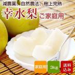 梨 幸水 家庭用 3kg  福岡産 特別栽培 ナシ なし