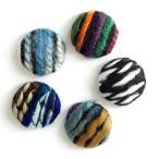 【10個】 包みボタン 貼り付けパーツ 毛糸のファブリ
