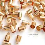 【10個】タッセルキャップ 6mm 金属製 ゴールド 資材/アクセサリーパーツ/手作り/材料/ハンドメイド/卸/手芸