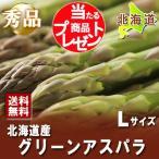 「北海道 グリーンアスパラ 送料無料 ギフト」北海道産のアスパラ 秀品(Lサイズ) アスパラ 1kg以上 通常価格3.680円