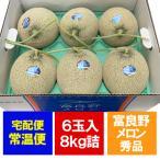メロン 北海道 赤肉メロン 富良野メロン 北海道産の富良野メロン 8kg 6玉入 1箱(1ケース)価格 5980円 メロン 秀品