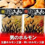 ホルモン 送料無料 男のホルモン 豚 ホルモン(生姜味)200 g×2袋・激辛 ホルモン 200 g×3袋(計5点セット) 価格 3900 円 ホルモンセット