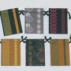 小紋 巾着袋 s6415-20 巾着 祭り よさこい きんちゃく 小物入れ まつり 信玄袋 お取り寄せ商品 1点までメール便可