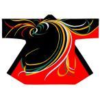 祭り 長半纏 男女兼用 レディース メンズ ( 稲 53235 ) ( 黒 赤 よさこい 踊り 衣装 祭り 袢纏 ハッピ 衣装 衣裳 )