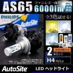 H4 H13 HB5 Hi/Loタイプ 国産車 (9007/アメ車) ファンレス一体型LED ヘッドライト 全5色、試せる 6000lm PHILIPS & CREE LED 3000k〜10000k オールインワン