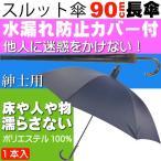 送料無料 スルット傘 紺 迷惑かけない水濡れ防止傘 紳士用 畳んでから傘に付いた水が人や物に付かないためのカバー付 Yu042