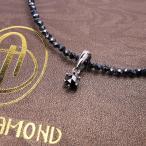 18万円→94%OFF ブラックダイヤモンド(0.2ct)/グレースピネル合計50ctネックレス/芦屋ダイヤモンド製アクセサリー