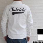 サブサエティ シャツ Subciety EMBROIDERY SHIRT L/S -GLORIOUS-