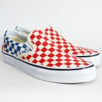 ショッピングVans VANS スニーカー スリッポン バンズ CLASSIC SLIP-ON Lifestyle (Checkerboard)red/blue VN0A38F7QCS チェッカー