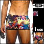 ESコレクション グラフィックフォトプリント 前開き付 メンズ ショートパンツ型スイムウェア 男性水着