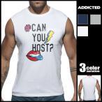 シャツADDICTED/アディクティッドメンズ男性Tシャツスリーブレス ノースリーブインナーシャツアジアンクローゼット