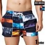 SEOBEAN/セビン フォトアート スイムウェア サーフパンツ ボードショーツ メンズ水着 海水パンツ 海パン 男性水着 ビーチウェア コラージュ