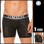 Mundo Unico/ムンドゥユニコ 部分レースロングボクサーパンツ シースルー 男性下着 メンズ パンツ