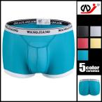 【WJ/ダブルジェイ】 ファイバーメッシュ シースルー ボクサーパンツ メンズ 男性下着 ローライズ パンツ セクシー スケスケ 通気性