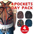 ショッピングアジアン アジアン バッグ エスニック バック パック リュック 柄 メンズ レディース スクールバッグ 4ポケット