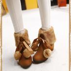 インヒール 身長アップ レディース靴 ショートブーツ 3色 森ガール