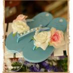 ビジューアップ 立体お花付き レースカジュアル ミュール サンダル シューズ レディース靴  2色3サイズ 森ガール