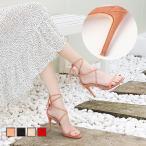 ピンヒールサンダル 夏新作 シューズ リゾートサンダル 婦人靴 レースアップパンプス ヒールさ8.5cm レディース スエード ストラップサンダル オシャレ きれいね