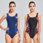 水着 レディース 体型カバー スポーツ フィットネス 競泳用水着 パット付き 袖なし ワンピース水着 水泳 練習用 女性 スイムウェア スイミング水着 防水速乾性