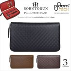 プルームテック ケース Ploom TECH レザー 本革 スペインレザー ラウンドファスナー 牛革 カード収納 財布型