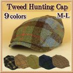 Hunting - ハンチング帽 レディース ウール / チェック柄 ツイード M−L