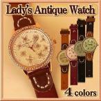 Antique Watches - 腕時計 レディース 本革ベルト / ラインストーン 花モチーフ
