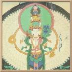 タンカ (チベット仏教 仏画) / 十一面千手観音菩薩 / 約40x30cm / グレードA