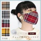 マスク チェック 大人用 洗えるマスク 綿 コットン 布マスク 男女兼用 おしゃれ バーバリー フォーマル 式典 スーツ 韓国
