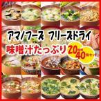 アマノフーズ フリーズドライ 味噌汁 40食(20種類X2個) お試し詰め合わせセット お歳暮