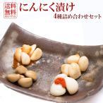 4種類 国産にんにく にんにく漬物 各100g ニンニク (梅肉・たまり・キムチ・薬膳) (ゆうパケット便限定)