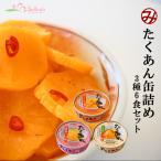 たくあんの缶詰め3種類6個お試しセット 道本食品 ごはんのおとも沢庵