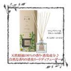 日本製 消臭剤入り リードディフューザー 木と果 リツェアクベバ&カモミール 190ml 天然精油100% ルームフレグランス アロマ エッセンシャルオイル リラックス