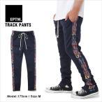 EPTM エピトミ スキニー トラックパンツ ジャージ FLAME ファイヤー フレイム サイドジップ スキニー スリム 細身 メンズ 裾ジップ TRACK PANTS