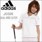 adidas golf(アディダス ゴルフ)レディース春夏ゴルフウエア JP DUAL-BRID 半袖ジップパーカー JO326 防風・撥水