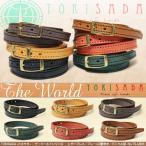 ショッピングブレス レザー ブレスレット バックル留め TOKISADA(トキサダ)The World(ザ・ワールド)本革 小物 日本製 メンズ 牛革