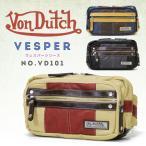 ウエストバッグ メンズ VonDutch(ヴォンダッチ)Vesper(ヴェスパー)ウェストバッグ A4未満 軽量