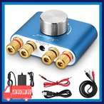 Yahoo!麻生川商店[新商品] Nobsound NS-01G Pro パワーアンプ bluetooth 50W×2 アンプ スピーカー HiFi オーディオ 電源付き (ブルー)