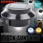 ガーデン 照明 ライト 太陽光パネル LED搭載 ブラックサンシャイン 明るさセンサー 夜間自動点灯 防犯 ET-BLASAN